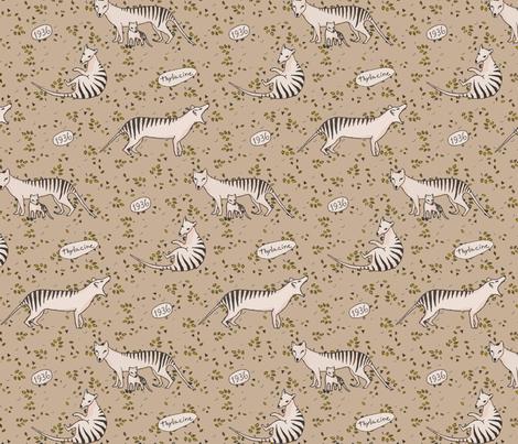 Thylacine so beautiful fabric by lucybaribeau on Spoonflower - custom fabric