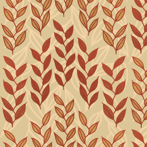 Layered Minoan grasses on beige by Su_G fabric by su_g on Spoonflower - custom fabric