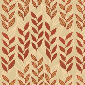 Layered Minoan grasses on beige by Su_G