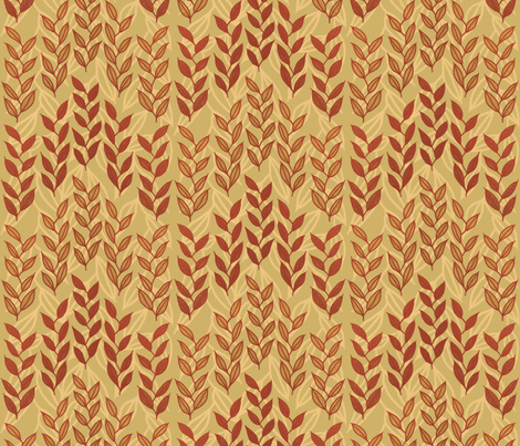 Layered Minoan grasses on yellow ocher fabric by su_g on Spoonflower - custom fabric