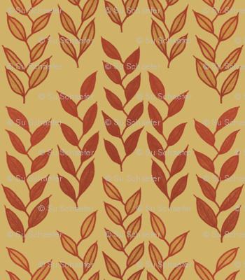 Minoan grasses on yellow ocher by Su_G