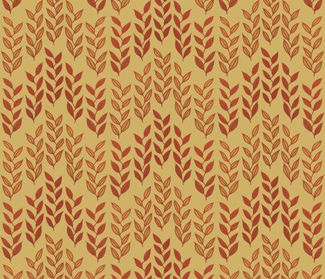 Minoan grasses on yellow ocher by Su_G fabric by su_g on Spoonflower - custom fabric