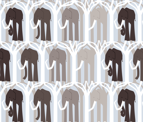 Woolly Mammoth - Fade To Extinction fabric by ttoz on Spoonflower - custom fabric