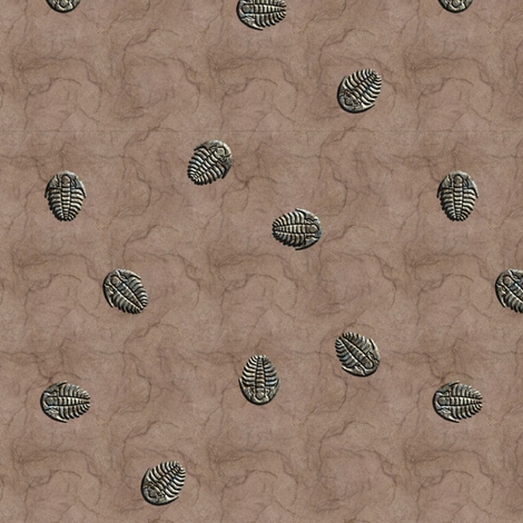 trilobite vivid fabric by leopardessmoon on Spoonflower - custom fabric