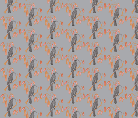 Black Mamo in Gray fabric by kbexquisites on Spoonflower - custom fabric