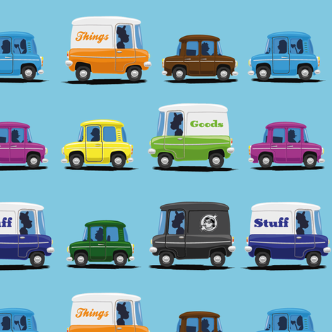 Cars and Trucks and Things that go fabric by grafiklieschen on Spoonflower - custom fabric