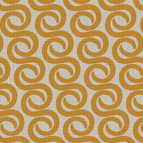 TUSK_ORANGE fabric by glorydaze on Spoonflower - custom fabric