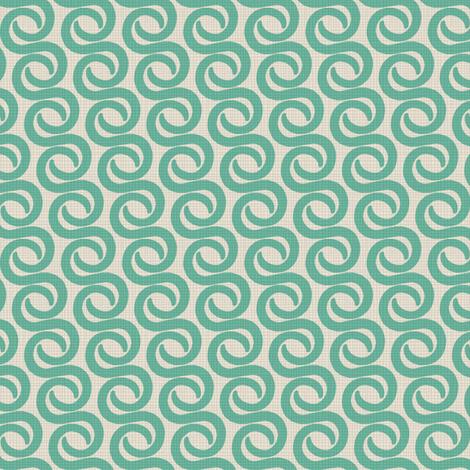 TUSK_TEAL fabric by glorydaze on Spoonflower - custom fabric