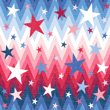 Maddox ombre stars and stripes fabric by veritymaddox on Spoonflower - custom fabric