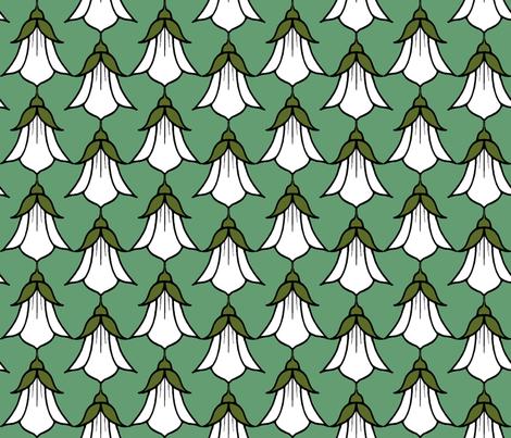 Campanula_white fabric by adranre on Spoonflower - custom fabric