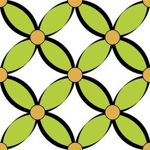 Geometric Petals_green