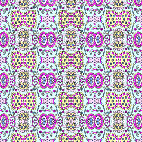 Henrietta in Blue fabric by captiveinflorida on Spoonflower - custom fabric
