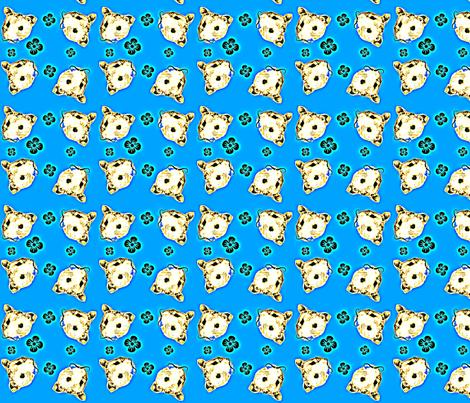 Mustachioed Hamster Blue fabric by margaretdaniero on Spoonflower - custom fabric