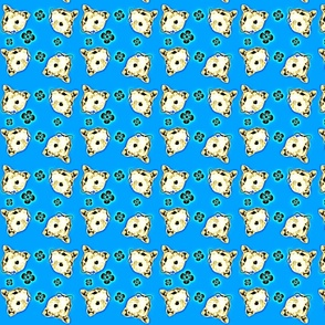 Mustachioed Hamster Blue