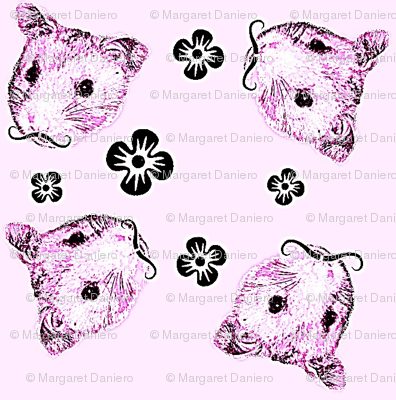 Mustachioed Hamster Pink