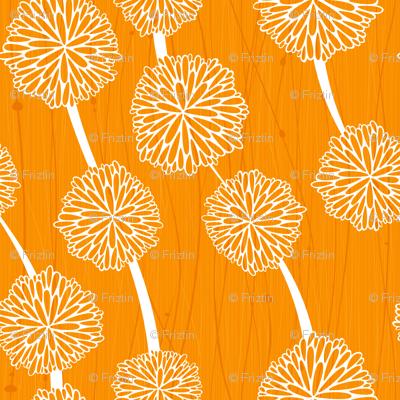 Pom Poms - Medium Orange  by Friztin