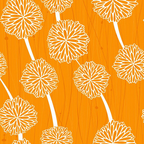 Pom Poms - Medium Orange  by Friztin