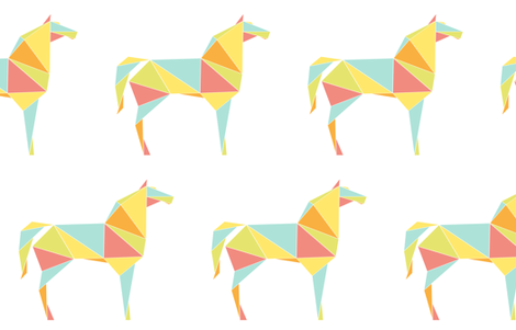 Origami Horses fabric by friztin on Spoonflower - custom fabric