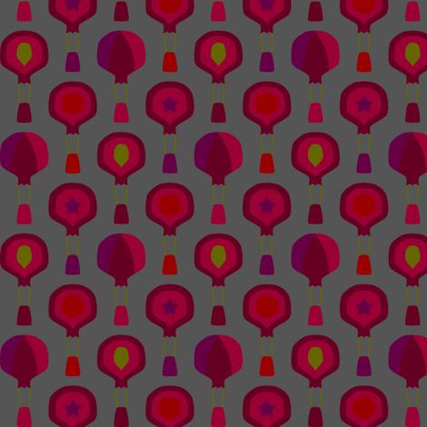 Hot Air Pomegranates fabric by modgeek on Spoonflower - custom fabric