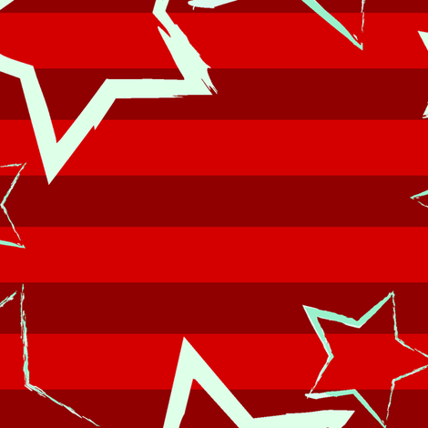 Stars & Stripes fabric by staceyjdesign on Spoonflower - custom fabric