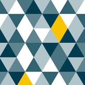 Geo Mod Navy Yellow