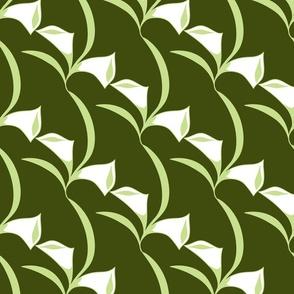 Deco Calla Lily dk green