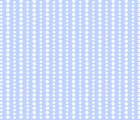 Bluebird Blossom Stripe fabric by shelleymade on Spoonflower - custom fabric