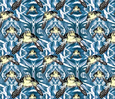 Turtles_in_Teal fabric by house_of_heasman on Spoonflower - custom fabric