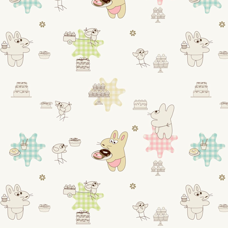 Kato- cakes and donuts fabric by kato_kato on Spoonflower - custom fabric