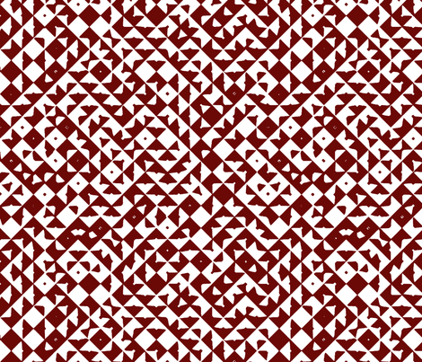 Diamond Realm red fabric by flyingfish on Spoonflower - custom fabric