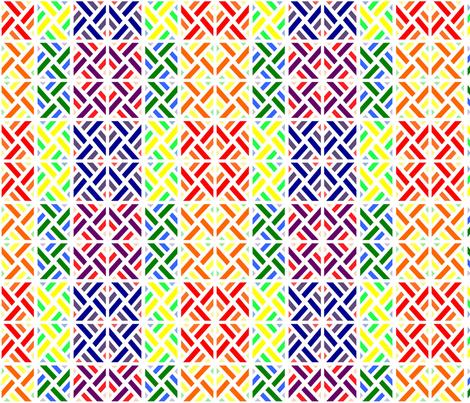 Rainbow Fence fabric by stitching_dvm on Spoonflower - custom fabric