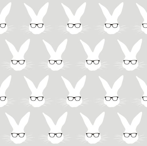 Geeky Bunny small scale fabric by smuk on Spoonflower - custom fabric