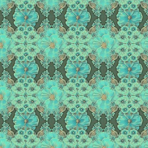 Floraplay: Antique Aqua - Medium