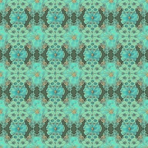 Floraplay: Antique Aqua - small