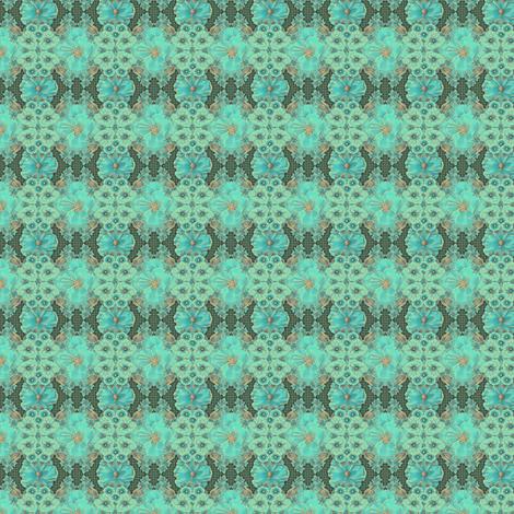 Floraplay: Antique Aqua - tiny fabric by tallulahdahling on Spoonflower - custom fabric