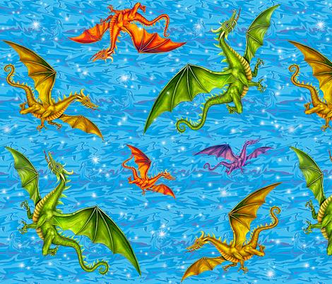 dragon_magic fabric by needlesongs on Spoonflower - custom fabric