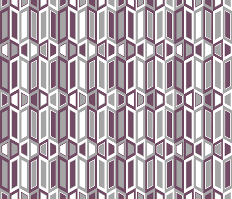 Parallelogram Trapezoid Stripe Grey fabric by modgeek on Spoonflower - custom fabric