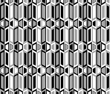 Parallelogram Trapezoid Stripe Black fabric by modgeek on Spoonflower - custom fabric