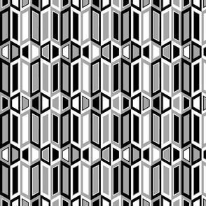 Parallelogram Trapezoid Stripe Black
