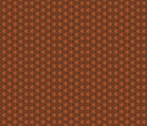 Hardwood Circles in Triangles © Gingezel™ 2012 fabric by gingezel on Spoonflower - custom fabric