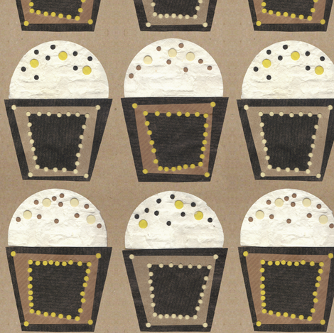 holy moley crafty cupcakes fabric by scrummy on Spoonflower - custom fabric
