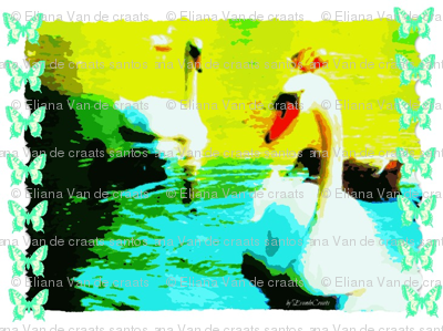 Irish Swans - Marcilia Style by EvandeCraats, June 21, 2012