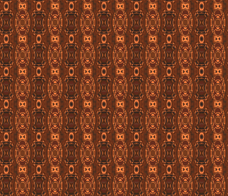 Southwestern Style Brown Geometric 2  fabric by gingezel on Spoonflower - custom fabric
