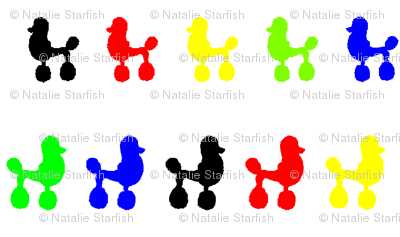 Olympic Poodle Polka Dots
