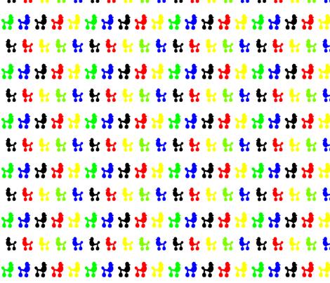 Olympic Poodle Polka Dots fabric by www_nataliestarfish_com on Spoonflower - custom fabric