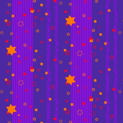 orange stars & purple stripes fabric by annekul on Spoonflower - custom fabric