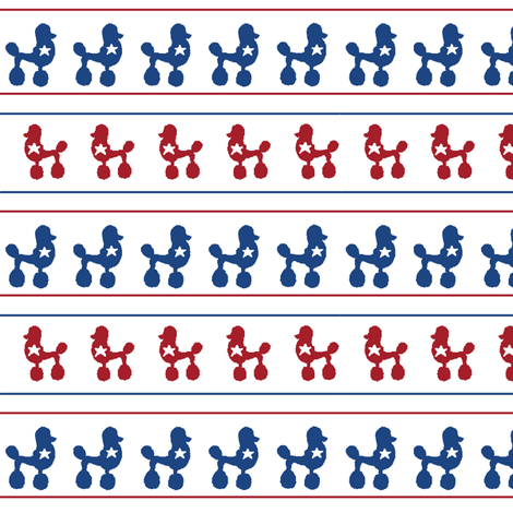 Poodle Polka Dot Parade of Stars and Stripes fabric by www_nataliestarfish_com on Spoonflower - custom fabric