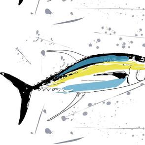 Yellowfin Tuna Blue, Yellow, Grey & Black