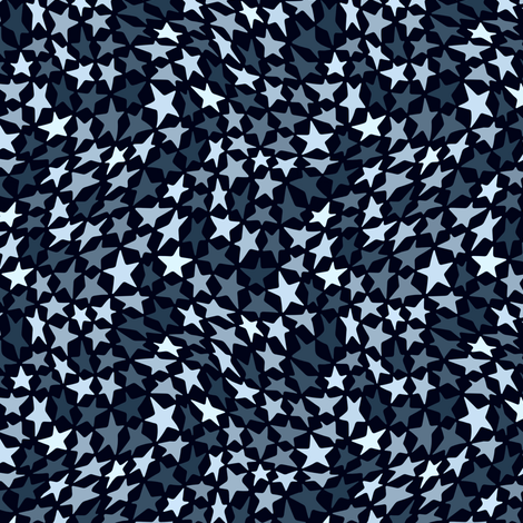 Blue Stars fabric by lilichi on Spoonflower - custom fabric