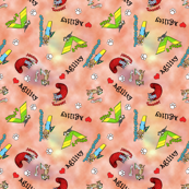 Peachy Agility Obstacle Fabric
